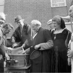 Hereford's Mayor at the opening of the May Fair in 1975