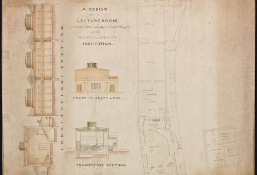 Design for a lecture room at the Devon and Exeter Institution