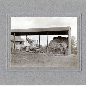 Aylton Court Farm, hay shed, 1910