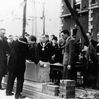 Litherland Town Hall, laying the foundation stone, 1939