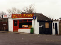 Snack Bar at corner of London Road and Tramway Path, Mitcham