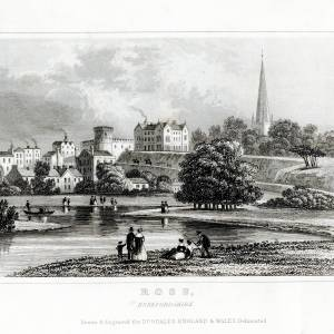 View of Ross-on-Wye from bend in river Wye
