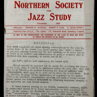 Northern Society For Jazz Study Vol.1 No.6 0001