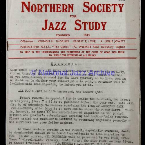 Northern Society For Jazz Study Vol.1 No.6 0001