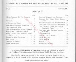 9th Lancers, 1951