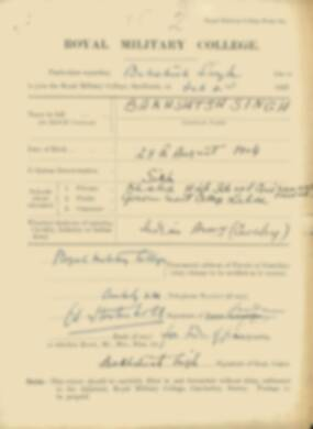 RMC Form 18A Personal Detail Sheets Feb & Aug 1923 Intake - page 9