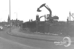 Demolition of railway bridge, Christchurch Road, Colliers Wood