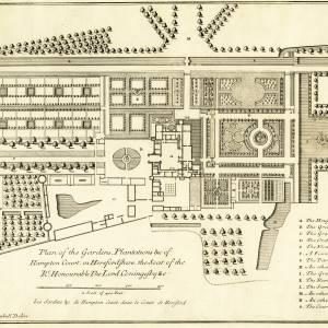 Hampton Court, Hope-under-Dinmore, garden plans
