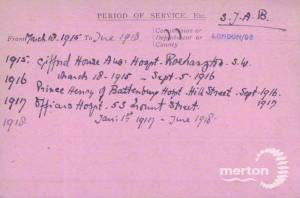 VAD Index Card (Page 2) for Edith Marion Peat