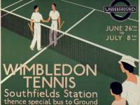 London Transport Poster promoting Wimbledon Tennis