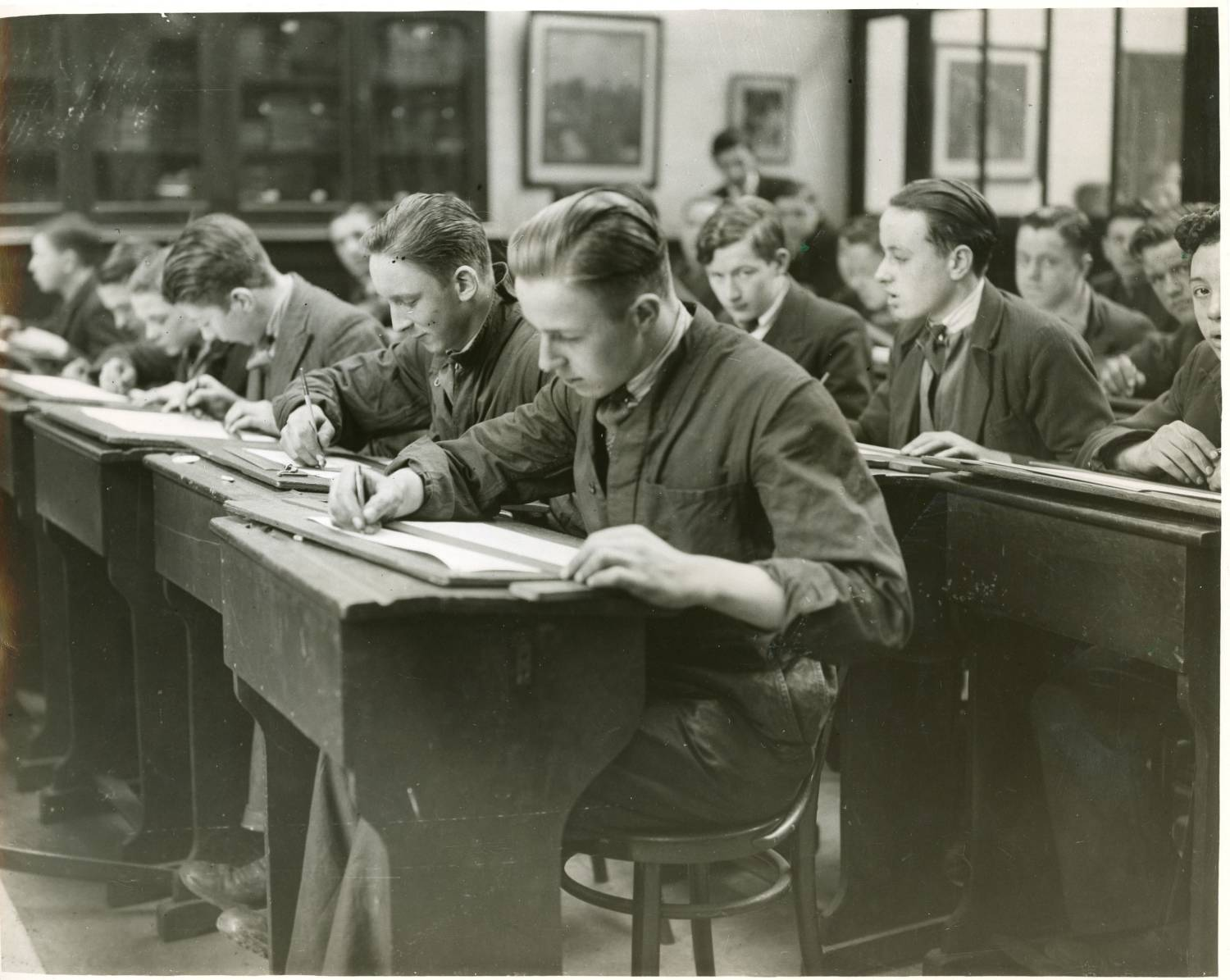 Mather & Platt apprentices, 2 Apr 1936.