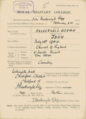 RMC Form 18A Personal Detail Sheets Feb & Aug 1923 Intake - page 12