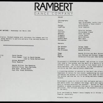 Birmingham Repertory Theatre, February–March 1989
