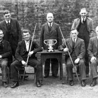 Harland & Wolff's Billards Team, Bootle, 1945