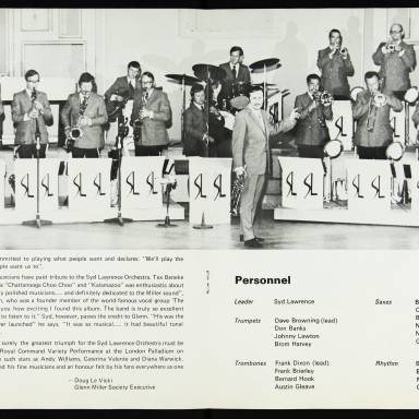 The Syd Lawrence Orchestra, Music in the Glenn Miller Mood, Fairfield Hall, Croydon - 1970 004