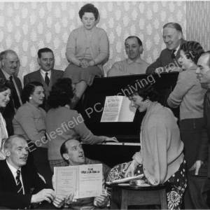 High Green Operatic Society's cast of 'The Pajama Game' in 1960