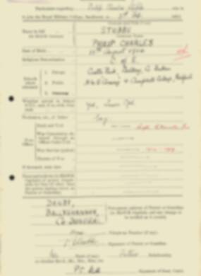 RMC Form 18A Personal Detail Sheets Feb & Sept 1933 Intake - page 288