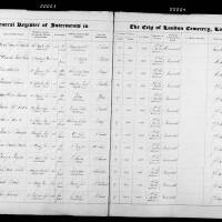 Burial Register 25 - May 1874 to January 1875