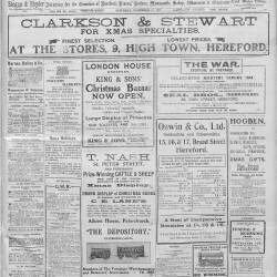 Hereford Journal - 12th December 1914