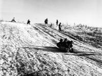 Sledging on Mitcham Common