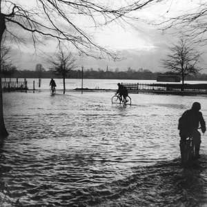 King George Playing Fields Flooded, 1960