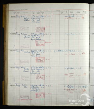 Register of Soldiers' Effects Entry for Rifleman William Stephen Williams
