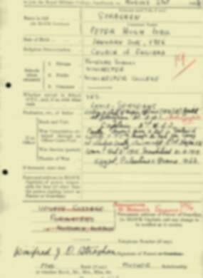 RMC Form 18A Personal Detail Sheets Aug 1934 Intake - page 194