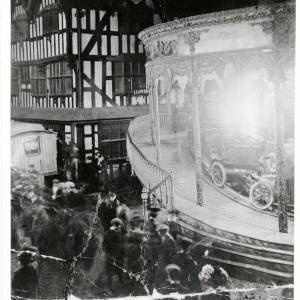 Old House during May Fair, High Town, Hereford, c1910