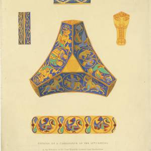 Candlestick design, Goodrich Court, 1835 (colour)
