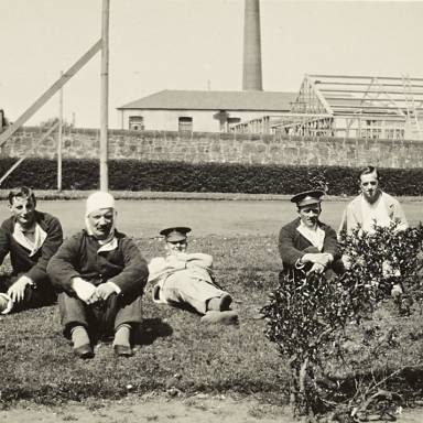 Patients Recuperating in Hospital Gardens