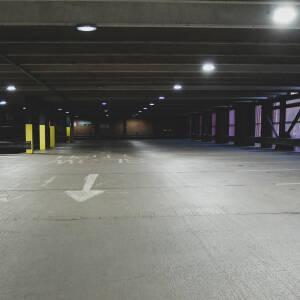 Deserted Garrick House car park