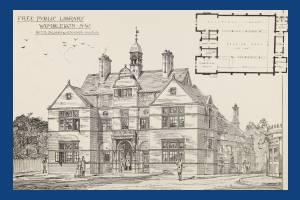 Wimbledon Library: Architect's drawing