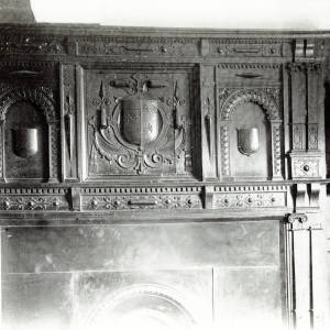 The Rodd, Herefordshire, mantlepiece