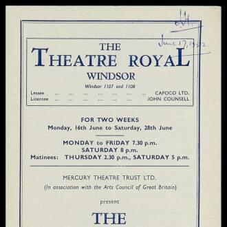 Theatre Royal, Windsor, June 1952