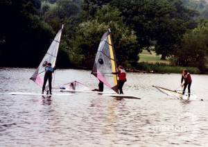 Sailing on the lake at Wimbledon Park