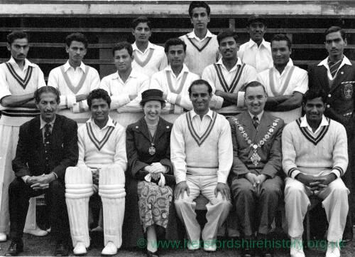 A cricket team plus officials.