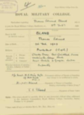 RMC Form 18A Personal Detail Sheets Feb & Sept 1921 Intake - page 15