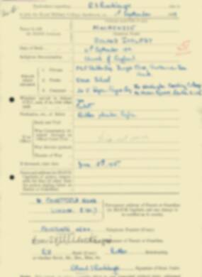 RMC Form 18A Personal Detail Sheets Feb & Sept 1933 Intake - page 243