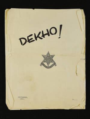 DEKHO! The Journal of The Burma Star Association