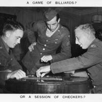 A Game of Checkers at an American red Cross Service Club