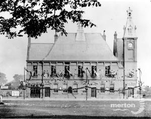 Vestry Hall, decorated for Queen Victoria's Diamond Jubilee