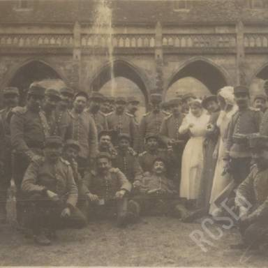 Orderlies and French Dragoons in Abbey Grounds