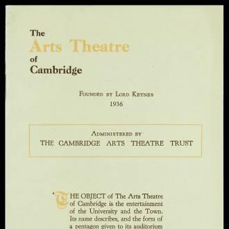 Arts Theatre of Cambridge, December 1946