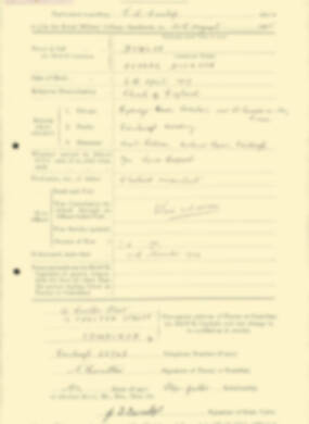 RMC Form 18A Personal Detail Sheets Aug 1935 Intake - page 67