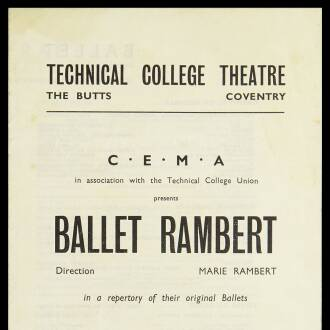 Technical College Theatre, Coventry, May 1943
