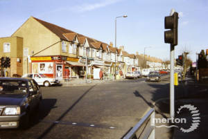 Manor Road, Mitcham: Junction with Wide Way, Pollards Hill