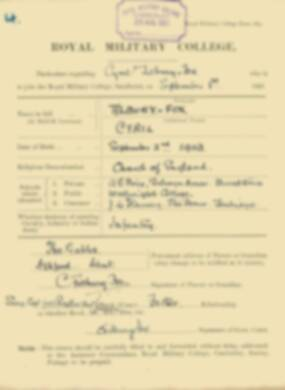 RMC Form 18A Personal Detail Sheets Feb & Sept 1922 Intake - page 139