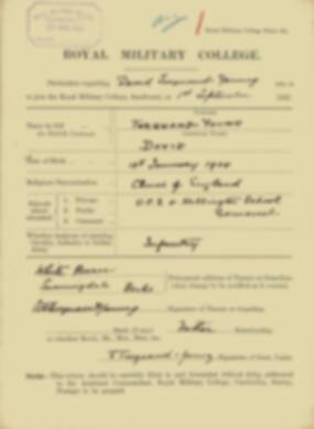 RMC Form 18A Personal Detail Sheets Feb & Sept 1922 Intake - page 305