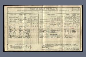 1911 Census for 91 Paulet Road, Camberwell