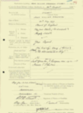 RMC Form 18A Personal Detail Sheets Aug 1935 Intake - page 199